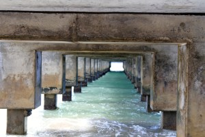 Hanalei Pier – On an island surrounded by natural beauty, it's easy to get distracted and miss architectural details blending with the environment. Photo by Kristin Repp, of Dusty, Wash.
