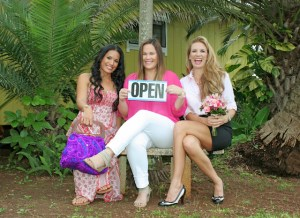 From left to right, Kapua Kaneakua, Maikalani Kahana and Heather Singleton are a few of a growing number of Kaua'i women going into business.
