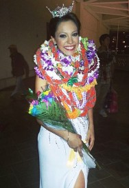 Stephanie Steuri after being crowned Miss Hawai'i 2014.