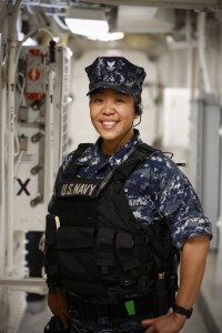 """My time in the Navy has been well spent,"" Petty Officer 2nd Class Courtney Doliente said. ""I have had the opportunity to see places I never thought I would, and at the same time I have paved a path for me to get an education and invest in my future."""