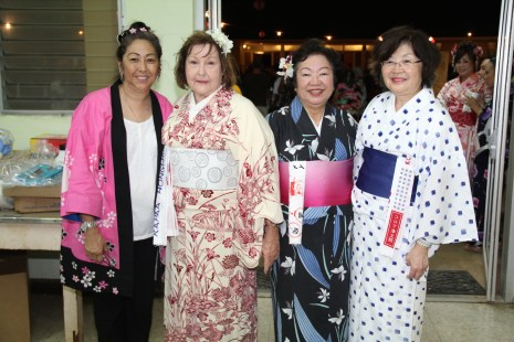 From left to right, Jan Wada, Ethel Ornellas, Mitsuko Valdez and Fay Tateishi.