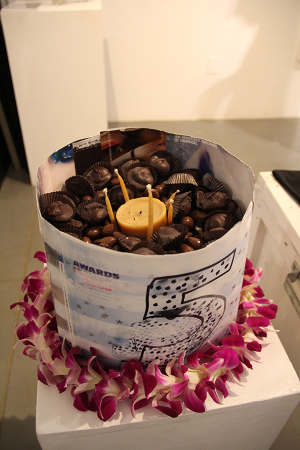 Fifth anniversary birthday cake for Galerie 103.