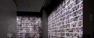 The Wall of Faces at the 9/11 Museum in New York, remembering nearly 3,000 who lost their lives in terrorist attacks at the World Trade Center in 2001 and 1993.