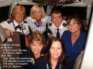 Linda Christopherson captained an all-female flight crew to Kaua'i in 2010.