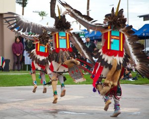 The Moiyma Youth Group Eagle Dancers, from the Hopi Nation of Arizona.