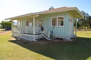 Container home built by Kaua'i Community College students and faculty.