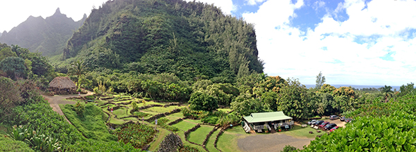 The 1,000-acre Limahuli Garden and Preserve in the far reaches of Kaua'i's North Shore lies within the Ha'ena Ahupua'a, which in turn is part of the Halele'a Moku, one of the five original moku on Kaua'i.