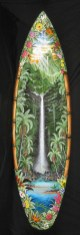Zoe Babit's waterfall surfboard