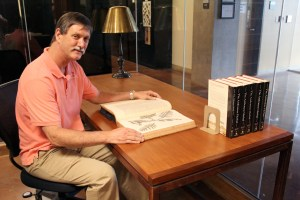 NTBG CEO and Director Chipper Wichman in the Rare Book Room of the Research Center.