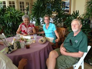 Former Kaua'i Mayor Maryanne Kusaka, left, is also a former president of the Mokihana Club.