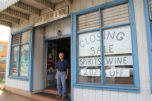 Lyle Kuboyama is seen here in front of Kapa'a Liquor & Wine Company. His father opened the business in 1940.