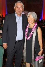 Kaua'i Coffee President Wayne Katayama and Councilwoman and former Mayor JoAnn Yukimura