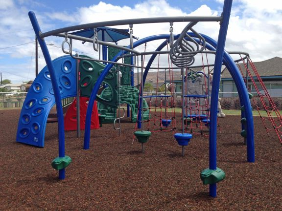 The newly improved Kekaha Gardens' Kaleimanu Park is furnished with some of the latest playground equipment.