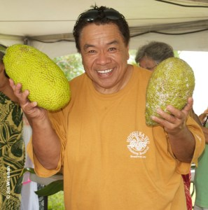 Sam Choy, Hawai'i's Breadfruit Ambassador. Photo by Jim Wiseman