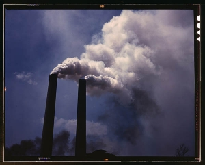 Smoke Stacks, 1942. Photo by Alfred T. Palmer/Library of Congress