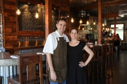 Aaron and Kristin Leikam's Street Burger opened a couple months ago, and became an instant hit with local residents and visitors. Aaron is a seasoned chef and Kristin was the creative energy behind their last business, Cakes by Kristin.
