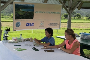 Kala'e Abrams and Leela Henderson check out some activities to be included in Ahupua'a Explorations.