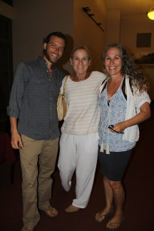 Timothy Powers, Claudia Herfurt, center, and Kimberly Larkin