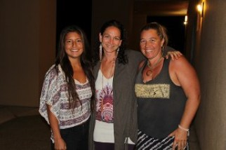 Left to right, Ivon Kendric, Kellie Burns and Tammy Davies