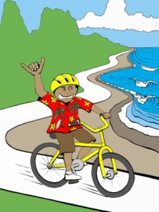Graphic artist Seth Womble created this illustration capturing the whimsical and easy spirit of the Ugly Aloha Shirt Rides. The next free group bicycle ride starts at the Wailua Homesteads Park Feb. 21 at 9 a.m, potluck lunch to follow.