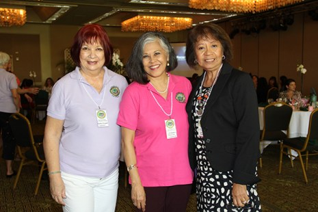 Left to right, committee members Kathy Crowell, Edie Ignacio and Liza Cabral Trinidad