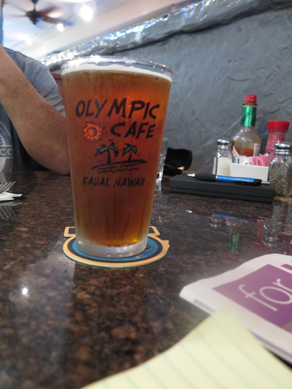 Gratuitous pint picture with a great logo. Olympic Cafe has always promoted a little sand, a little sunburn and lazy tropical days.