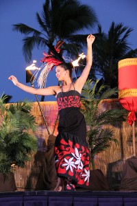 Sydnee White at the 'Auli'i Lu'au