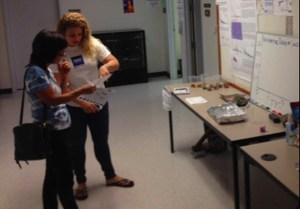 Hannah Azouz sharing research findings at the 2015 SOEST Open House. Photo courtesy of UH