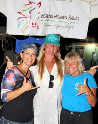 Healing Horses crew, left to right, Gina Kozerski, Melina Ward and Sandy Webster.