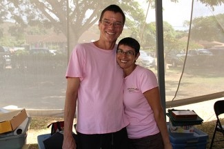 Mark Furr and Tina Ferraro, of Hanalei Coffee Roasters