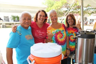 Kaua'i Coffee crew, left to right, Rick Galiciano, Roxy Vidinha, Susan Gray and Sandy Souza