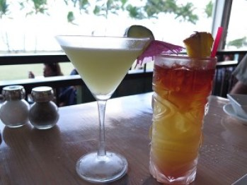 The Cucumber Lime Martini is a refreshing, cool gin drink with the tang of a real lime cordial and the freshness of real cucumber. The Mai Tai is layered with real juices, Koloa Rum and orgeat, a sophisticated touch you just don't get anywhere.