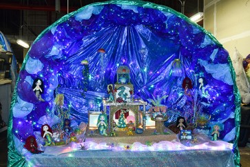 The new attraction this year, the Undersea Mermaid Sand Castle, a concept developed by artist Rizalyn Llego Ogata. Photo courtesy of Festival of Lights/Ron Kosen