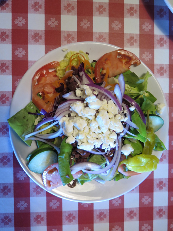 Italian style salads can easily double for meals, or for shareable courses. They are loaded with crunchy veggies and cheeses. My favorite thing is to bite the tip off the pepperoncini and then sprinkle the spicy juice over the salad, before topping it all in homemade dressing.