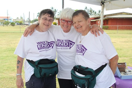 Left to right, Ann Wallace, Liedeke Bulder and April Taylor