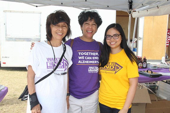 Left to right, Lynette Balderas, Eunice Burgonio and Jennifer Palpallatoc
