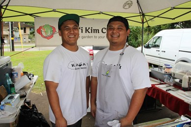 Aaron Dosono, left, and Isaiah Dosono
