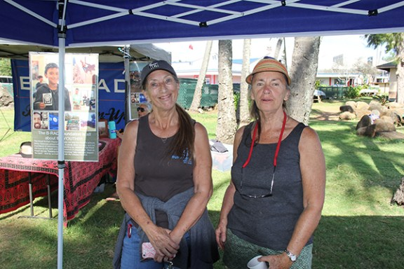 Surfrider's Beth Hanashiro, left, and Sharon Geiken