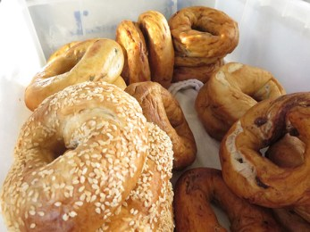 We happily serve an assortment of YA Quddus bagels, Kaua'i's very own organic hand-rolled bagelry, served toasted with cream cheese, butter, house-made hummus or jam.