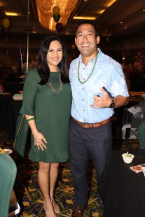 Derek and Monica Kawakami at an event in February.