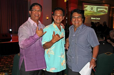 Left to right, Jimmy Tokioka, Lester Calipjo and Eddie Topenio