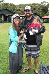 Rochelle and Justin Harris, with their daughter Inez Harris and Pea