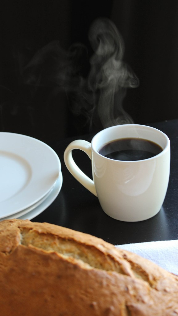 banana bread with coffee
