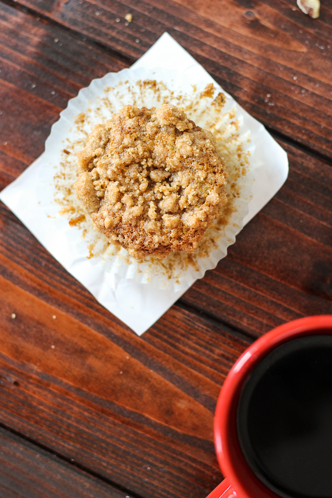 Banana Nut Muffins with Streusel are perfect for a weekend or weekday breakfast!