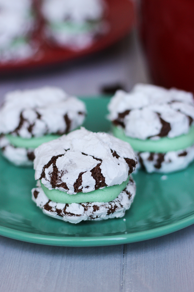 Chocolate Mint Cookie Sandwiches - your next favorite holiday cookie!
