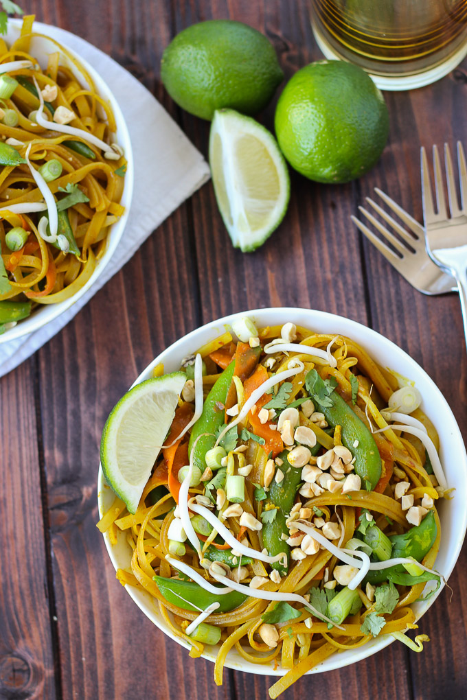 Vegetable Pad Thai / Fork in the Kitchen