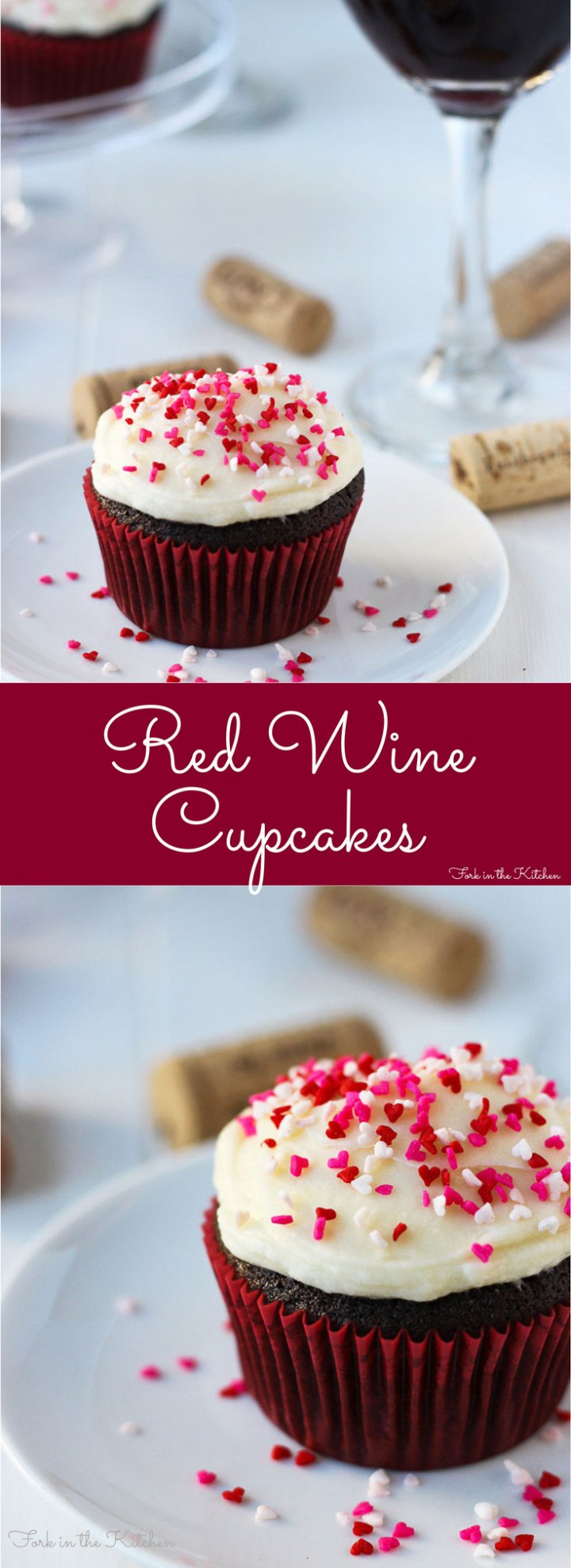 Red Wine Cupcakes - there's nothing better than chocolate and wine!
