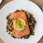 Salmon with Caramelized Mushrooms and Lentils // Fork in the Kitchen