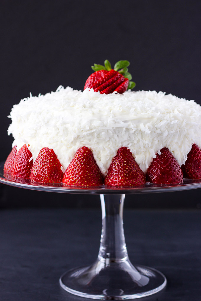 Strawberry Coconut Cake Fork In The Kitchen