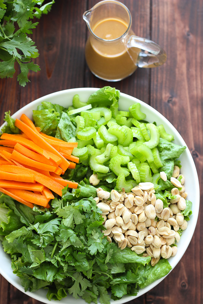 Cilantro Salad with Peanut Sauce Dressing // Fork in the Kitchen